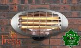 2kW IPX4 Wall Mounted Quartz Bulb Electric Heater with 3 Power Settings by Firefly™
