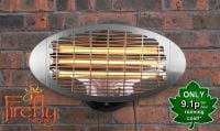 2kW Wall Mounted Quartz Bulb Electric Heater with 3 Power Settings by Firefly™