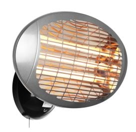 2kW IPX4 Wall Mounted Quartz Bulb Electric Heater with 3 Power Settings by Heatlab™