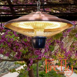 1.5kW IP34 Infrared Hanging Patio Heater in Copper by Firefly™