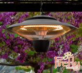 1.5kW Ceiling Mounted Halogen Bulb Infrared Electric Patio Heater in Grey by Firefly™
