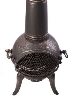 Santa Reno Large Bronze Cast Iron/Steel Chimenea