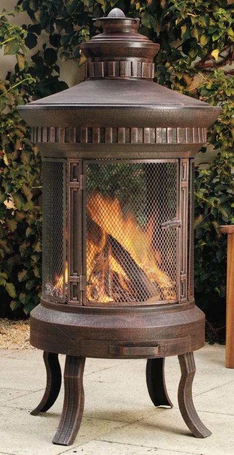Cast Iron Prestige Fire Pit H152cm 163 259 99