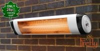 Firefly� 2kW Wall Mounted Quartz Tube Electric Heater with Thermostat and Remote Control
