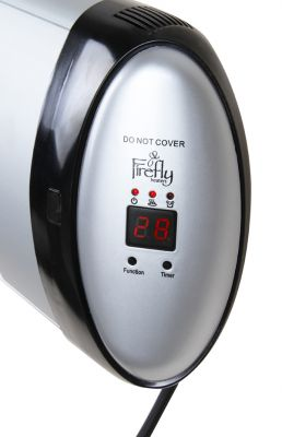 2kW Wall Mounted Quartz Tube Electric Heater with Thermostat and Remote Control by Firefly™