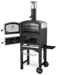 Fornetto Wood Fired Oven & Smoker - Black