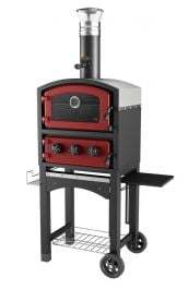 Fornetto Wood Fired Oven & Smoker - Red