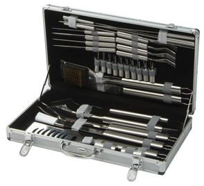 30 Piece Stainless Steel Barbecue Tool Set with Case