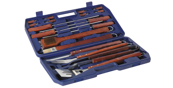 18 Piece Barbecue Tool Set with Case