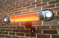 Firefly™ 1.5kW Halogen Bulb Electric Infrared Heater with Easy Fit Wall Mount, Lights and Remote Control