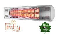 Firefly™ 1.5kW Electric Gold Bulb Patio Heater with Remote Control