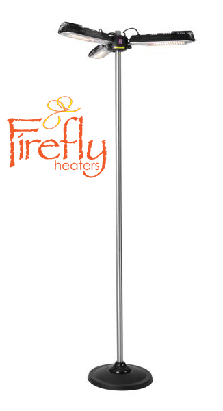 H196.5cm Electric Parasol Patio Heater Floor Stand by Firefly™