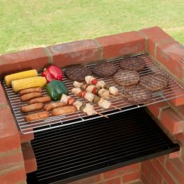 Black Knight Standard Brick Barbecue Kit with Chrome Grill