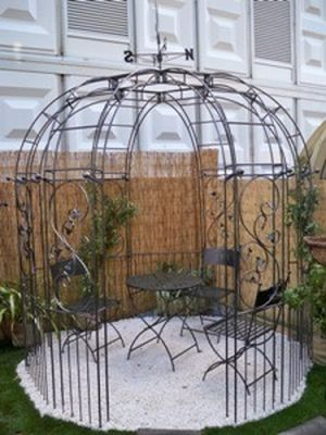 Imperial Steel Gazebo with Weathervane