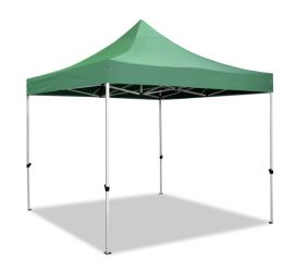 Hybrid 3m x 3m Pop Up Steel/Aluminium Gazebo - Green