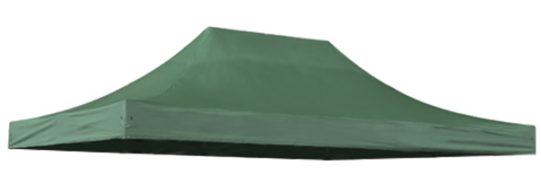 Replacement Roof Canopy for 3m x 4.5m Gazebos - 500D Green