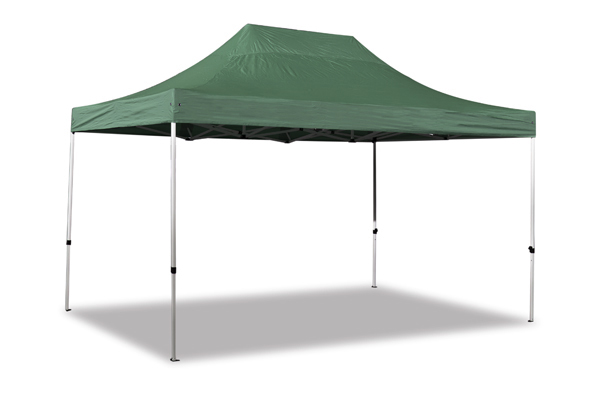 Hybrid 3m x 4.5m Pop Up Steel/Aluminium Gazebo - Green