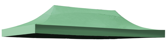 Replacement Roof Canopy for 3m x 6m Gazebos - 300D Green