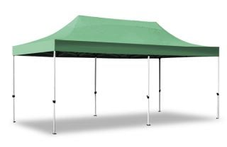 Hybrid 3m x 6m Pop Up Steel/Aluminium Gazebo - Green