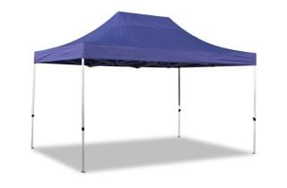 Hybrid 3m x 4.5m Pop Up Steel/Aluminium Gazebo - Blue