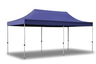 Hybrid Plus 3m x 6m Pop Up Steel/Aluminium Gazebo - Blue
