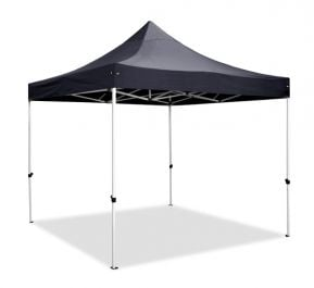 Hybrid Plus 3m x 3m Pop Up Steel/Aluminium Gazebo - Black