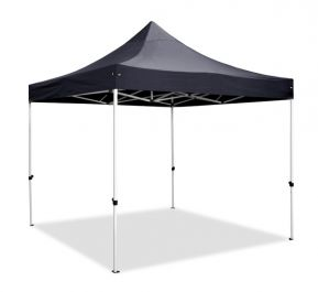 Hybrid 3m x 3m Pop Up Steel/Aluminium Gazebo - Black