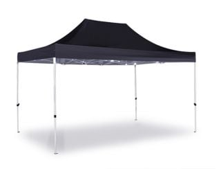 Standard Plus 3m x 4.5m Pop Up Steel Gazebo - Black