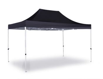 Hybrid 3m x 4.5m Pop Up Steel/Aluminium Gazebo - Black