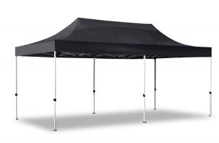 Hybrid Plus 3m x 6m Pop Up Steel/Aluminium Gazebo - Black