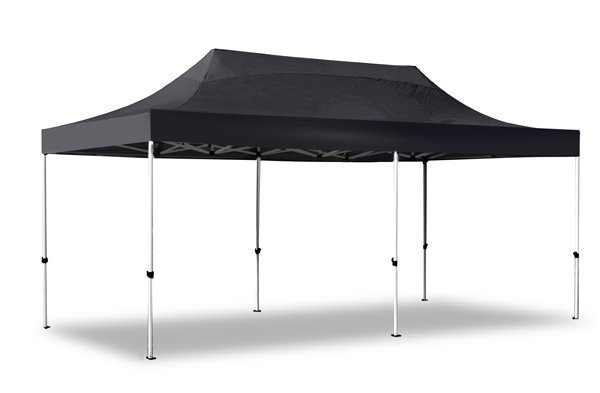 Hybrid 3m x 6m Pop Up Steel/Aluminium Gazebo - Black