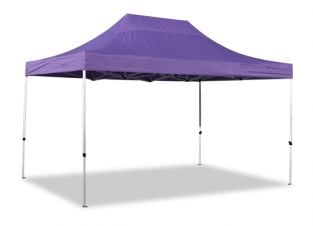 Hybrid 3m x 4.5m Pop Up Steel/Aluminium Gazebo - Lilac
