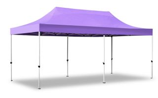 Hybrid Plus 3m x 6m Pop Up Steel/Aluminium Gazebo - Lilac