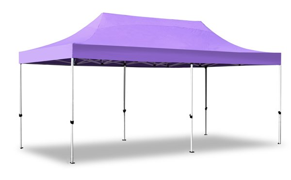 Hybrid 3m x 6m Pop Up Steel/Aluminium Gazebo - Lilac