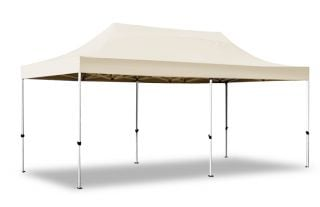 Hybrid 3m x 6m Pop Up Steel/Aluminium Gazebo - Sand