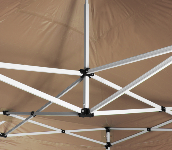 Hybrid 3m x 6m pop up steel aluminium gazebo beige for Gazebo plegable easy