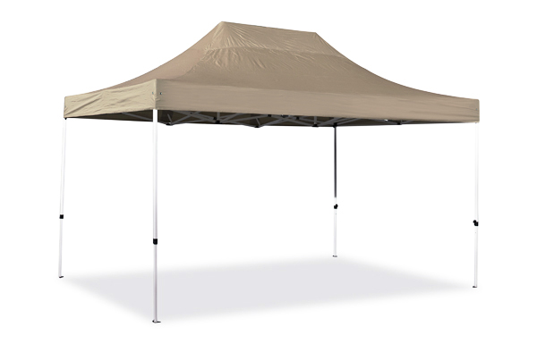 Hybrid 3m x 4.5m Pop Up Steel/Aluminium Gazebo - Beige