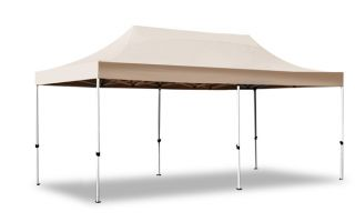 Standard Plus 3m x 6m Pop Up Steel Gazebo - Beige