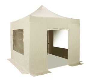 Standard Plus 3m x 3m Pop Up Steel Gazebo Set in Sand - Complete With Carry Bag