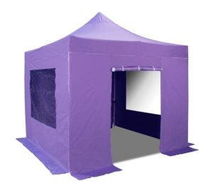 Hybrid Plus 3m x 3m Pop Up Steel/Aluminium Gazebo Set in Lilac - Complete With Carry Bag