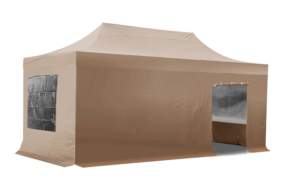 Side Walls and Door Only for 3m x 6m Gazebos - Beige