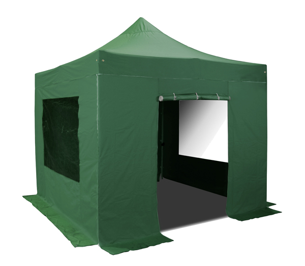 Standard Plus 3m x 4.5m Pop Up Steel Gazebo - Green