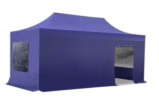 Hybrid 3m x 6m Pop Up Steel/Aluminium Gazebo Set - Blue