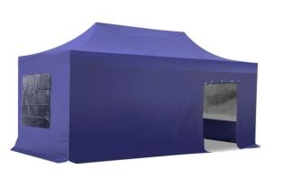 Side Walls and Door Only for 3m x 6m Gazebos - Blue