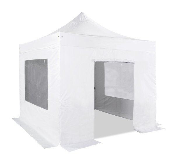 Hybrid 3m x 3m Pop Up Steel/Aluminium Gazebo Set in White - Complete With Carry Bag