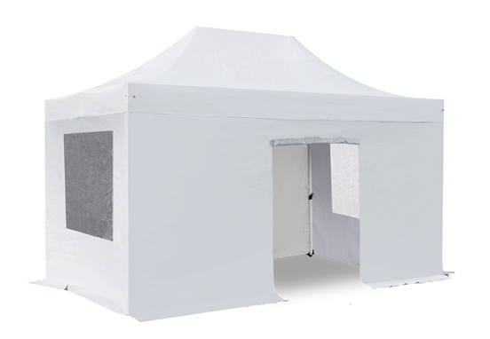 Side Walls and Door Only for 3m x 4.5m Gazebos - White