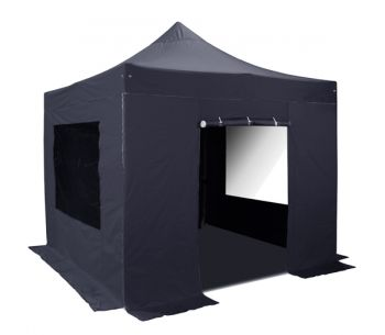 Side Walls and Door Only for 3m x 3m Gazebos - Black