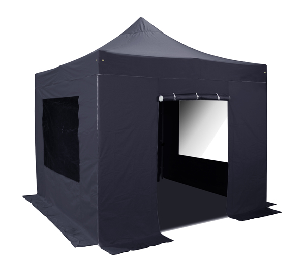 Side Walls and Door Only for 3m x 3m Hybrid Pop Up Gazebo - Black
