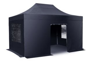 Side Walls and Door Only for 3m x 4.5m Gazebos - Black