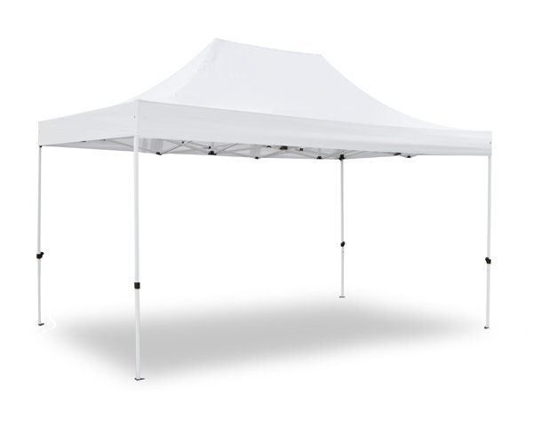 Hybrid 3m x 4.5m Pop Up Steel/Aluminium Gazebo - White
